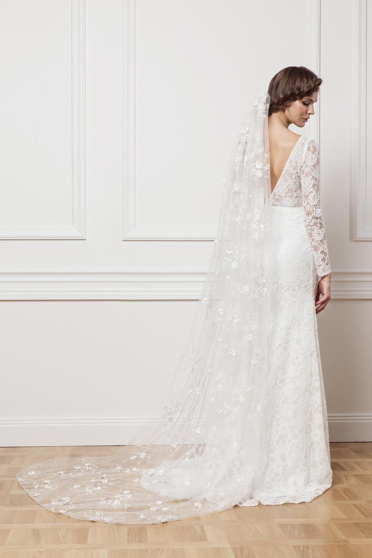 Flower lace veil