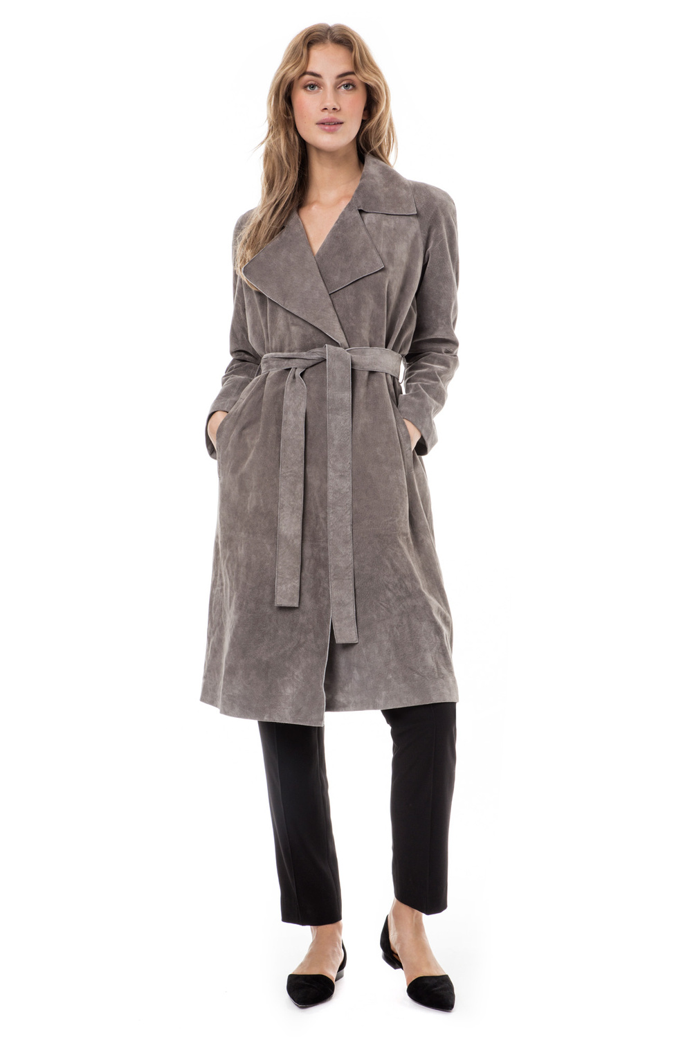 Adina suede trench